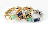 Bracelets & bangles elastic women new classic gold plated bracelet