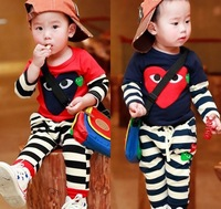 2014 summer children's clothing  child cotton sports outwear set wholesale price free shipping