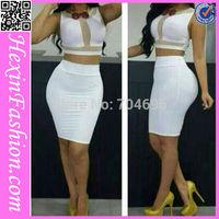 Free Shipping Sexy White Clubwear Sexy Ladies Bandage Dress LB5756 Size S M L