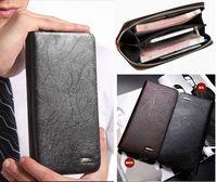 BOSTANTEN 2014 New Men's Fashion Genuine Leather Casual Zipper Large capacity Long Design Cowhide Wallet Hand Bag Clutch Purse