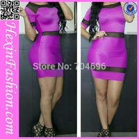 Free Shipping Sexy White Clubwear Sexy Ladies Bodycon Dress LB5757 Size S M L