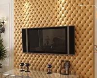 Beige plaid three-dimensional fashion 3d soft bag dermatoglyph wallpaper modern tv sofa background wall wallpaper