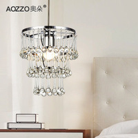 Modern brief crystal pendant light bedroom lamp restaurant lamp lighting lamps E27 base led lamp