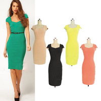 Fashion Uprising 2014 summer sexy pencil dress slim ol elegant plus size one-piece dress