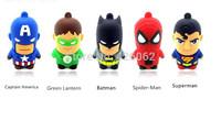 Free shipping pen drive cartoon Bat man superman pendriver  32gb 64gb  batman pen drive usb flash drive gift external storage