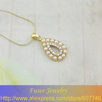 IGZ01518 Classic 18K Gold Plated pearl  pendant 3pcs/lot