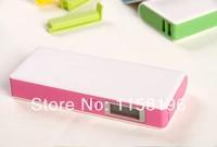 Portable Dual USB Power Bank 12000mAh External Emergency Battery Pack + Retail Box 30pcs/lot Fedex Free Shipping