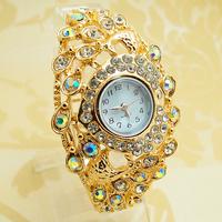 Wholesale Bangle women wristwatches ladies fashion Cuff quartz watch rhinestone Women dress watches FS202
