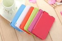 5pcs/lot Flip PU Leather Case Cover For Huawei G710 Free Shipping