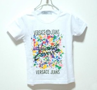 fashion summer white shirt(short slevee) with colorful printing  for girl and boy ,Size S M L XL XXL FOR2-6YEARS baby