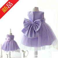 2014 New Noble Girl Party Dress Fashion Bowknot Costumes Children Princess Dresses with Golves&Headband Clothing Sets C30-3