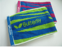 Colorful-100% Cotton towel butterfly Table tennis towel sports towel Gym towel 110cm*30cm
