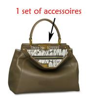 10inch Fedi DIY luxury top handle double-clasp metal bar connector gold hardware handbag accessories