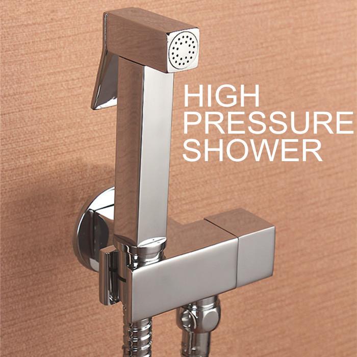 100%Brass Hand held Bidet Shower set Free Perforating Toilet Jet Cleaner Portable Bidet High Pressure Shower Head and 1.5m hose(China (Mainland))