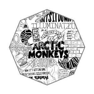 Custom Novelty Item Arctic Monkeys 43.5 inch 3 Foldable Umbrellas Good Gift For Birthday Friend(China (Mainland))