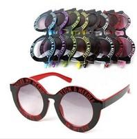 Wholesale Retail Fashion Round Children Letter Design Summer Sunglasses