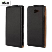 Genuine Leather Case For Sony Xperia M2 S50h , Flip Real Leather Cover For SONY M2 , MOQ:1PCS free shipping