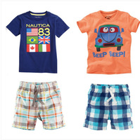Free shipping CHILDREN cartoon clothing set cotton t-shirt+PANTS girls and boys suits Sets kids suit