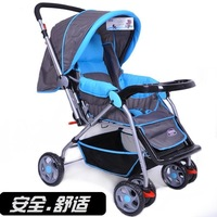 Bora shock absorption wheel baby stroller two-way cart baby light baby car