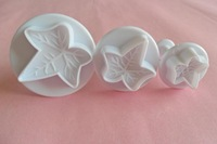 3 pieces  Maple Leaf cake cookie cutter machine plunger paste sugar craft decorating tools FREE SHIPPING for gift B415