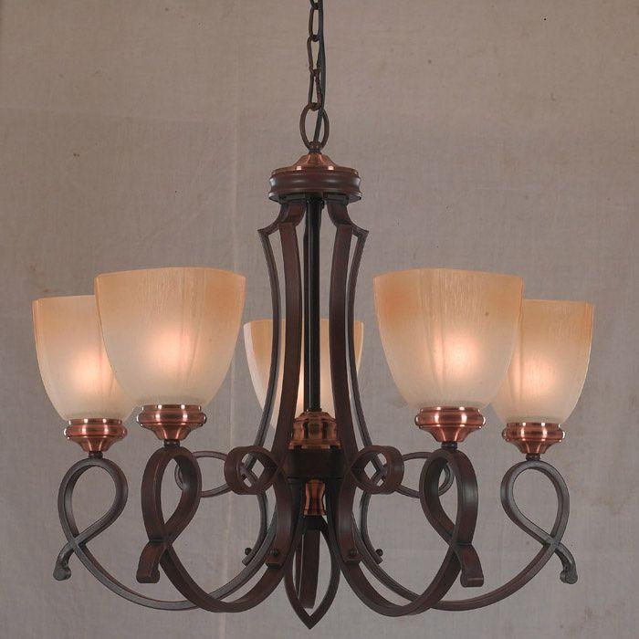 [ Rosamond ] American antigo forjado ferro jardim minimalista sala de jantar quarto lustre 60195/5(China (Mainland))