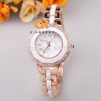 2014 high quality popular new fashion irregular shape full diamond luxury brand dress quartz ceramic watch waterproof FC316-F429