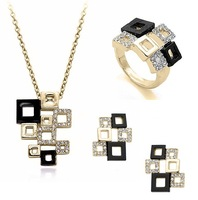2014 New 18K Gold Plated Austrian Crystal Jewelry Set for Women High Quality Nickle Free Wedding Jewelry Set Free Shipping