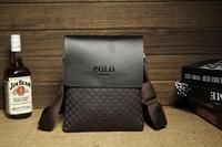 2014 Hot sale!! New fashion for POLO bag genuine leather men shoulder bag messenger bag,business leisure bag,free shipping BG02