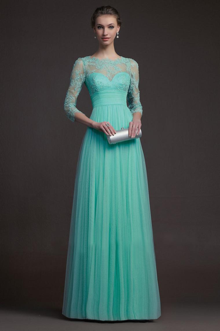 Prom Dresses a Line Lace Prom Dresses