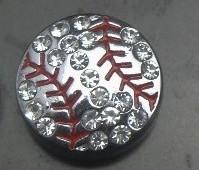 High Quality 50pcs/lot 8mm rhinestone silver Baseball sport slide charm DIY jewelry findings