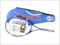 1 Pcs Regail Sports Tennis Racket Aluminum Alloy Adult Racquet with Racquet Bag for Beginners Blue Color
