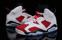 free shipping !! JD6  original J6 white/red  Men size basketball Shoes leather footwear sneakers authentic Sports shoes