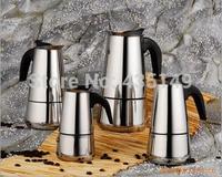 Italian original single black handle classic Moka coffee pot 6 cups