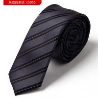Pack with Gift BOX 2015 Fashion 5CM Striped Gravata Slim Tie Men Gravatas Brands Silk Ties For Men Neckties  Plaid Skinny Tie