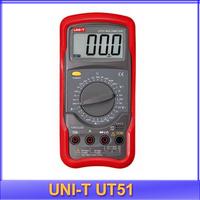 free shipping Uni-T UT51 Standard Digital Multimeter 3 1/2  Manual Range 10A fuse with Resistance Diode Transistor measurement