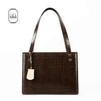 Querysystem kilikili series fashion shaping crocodile pattern cowhide vintage one shoulder women's handbag