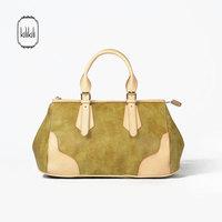 Kilikili spring and summer color block patchwork women's genuine leather handbag bag horizontal casual cowhide handbag