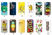 new 2013 12PCS/LOT(12style) m&m white hard case back cover for iPhone 4 4th 4S+free shipping