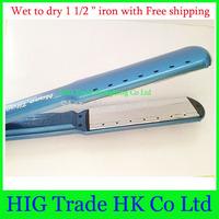 """Chapinha Straightener Pro Nano Titanium Hair iron Ultra Thin 1.5"""" hair straightener wet to dry styling tools No retail  box"""