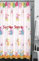 JS4524Terylene cloth printed waterproof shower curtain bathroom curtain screen measurement of cats140*180cm