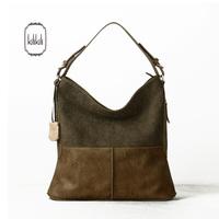 Kilikili 2014 summer new arrival fashion genuine leather patchwork color block women's handbag cowhide handbag one shoulder big