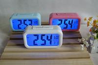 CLEVER CLOCK Car electronic watch car table auto clock car automatic night luminous Fashion LED alarm clock 20 colors