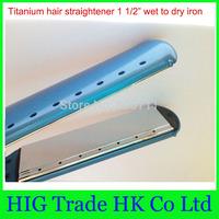 Big sale PRO Nano Titanium 1.5 inch plates Ceramic Hair Straightening Flat Iron 1 1/2 iron 3pcs/lot