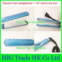 Free shipping!!!Ultra-smooth titanium flat iron plates pro nano titanium 1 1/2 inch Hair Straightener planchas chapinha