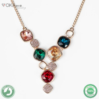 18K Gold Plated Necklaces& Pendants Fashion Pendant Jewelry Colorful Made with Austria Crystal SWA Elements Free Shipping