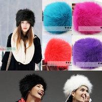 Free shipping 2013 New Fashion Womens Beanie Fake Mink fur Hat Winter Warm Faux fur Cap Fox Fur Hat Plush Hats Beanies For Women