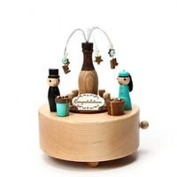 Wood wooden music box champagne sweet wedding music box birthday gift wedding souvenir sweet musica gifts