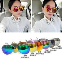 2014 fashion women's Reflective toad glasses sunglasses male fashion colorful large sunglasses sun glasses vintage sunglasses
