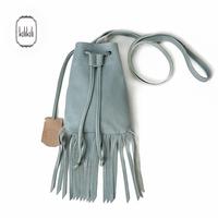 Kilikili genuine leather tassel bucket bag women's handbag one shoulder mini cross-body bag