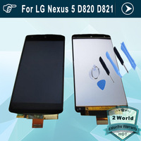 Original LCD Screen For LG Nexus 5 D820 D821 E980 Nexus G With Touch display Digitizer Assembly replacement + tools